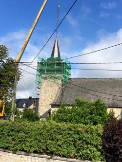 wellin,commune,église,clocher,coq,réparation,blog,sudinfo,sudpresse,la meuse,luxembourg,province,philippe,alexandre,abbé,jacquet,vidéo,photo
