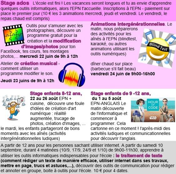 wellin,commune,epn,espace,public,numérique,stage,été,inscription,contact,blog,sudinfo,sudpresse,la meuse,luxembourg,province,philippe,alexandre,valérie,martin